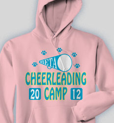 Cheer Hooded Sweatshirt - Cheer Camp desn-468c1