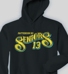 Senior Hooded Sweatshirt - Slick Seniors clas-855t2