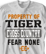 Cross Country T Shirt - Cross Country Slogans desn-529c2