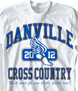 Cross Country T Shirt - New Vintage desn-519n3