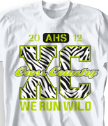 Cross Country T Shirt - X-C Country 2 desn-528x2
