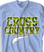 Cross Country T Shirt - Animal Print Sport desn-531a3