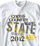 Cross Country T Shirt - State Qualifier clas-523s1