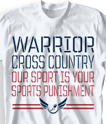Cross Country T Shirt - Stencil Sport desn 275s7