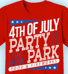 Custom 4th of July T Shirts - 4th of July Party - cool-664p3