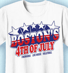 Custom 4th of July T Shirt Design -  Fourth of July Stars - idea-11f1