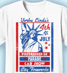 Custom 4th of July T Shirt Design - Statue of Liberty Poster - idea-8s1