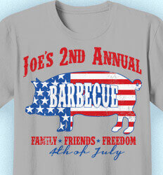 Custom 4th of July T Shirt Design - USA July Barbecue - idea-9u1