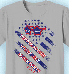 Custom 4th of July T Shirt Design - 4th of July Block Party Flag - idea-7b1