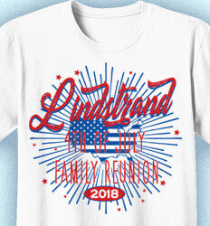 Custom 4th of July T Shirt Design - 4th of July Reunion - cool-643j2