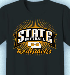 Custom Softball Shirts - State Softball Banner - cool-889s1