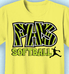 Custom Softball Shirts - Animal Print Sport - desn-531a4