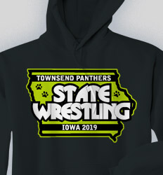 Custom Wrestling Hoodies Designs - Championship State - cool-824c1