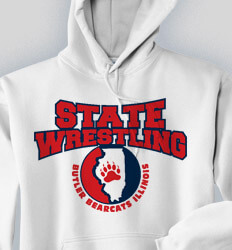 Custom Wrestling Hoodies Designs - Our State Wrestling - cool-841o1