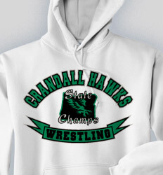 Custom Wrestling Hoodies Designs - Wrestling State Champs - cool-834w1