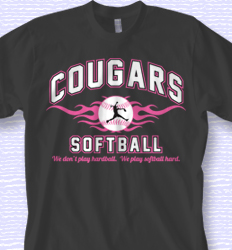 Cool Softball Shirt Design - Collegiate Heater desn-353d2