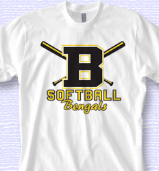 Custom Softball Shirt Designs - Big Bats desn-869b1