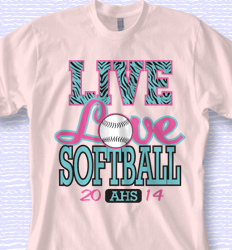 Softball Shirt Design - Softball Pattern desn-880s1