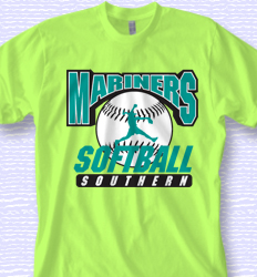 Custom Softball Shirt Design - Classic Pitch desn-870c1