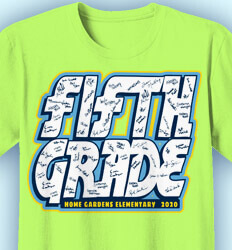 Elementary School T Shirt - Fifth Grade Signatures - idea-284f1