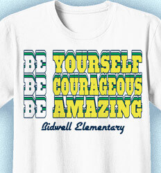 Elementary School T Shirt - Retro BE Slogan - idea-289r1