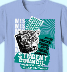 Elementary Shirts for School - Tiger Terror - clas-924w9