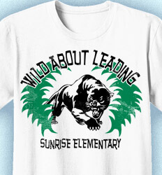 Elementary Shirts for School - Wild About Learning - idea-77p2