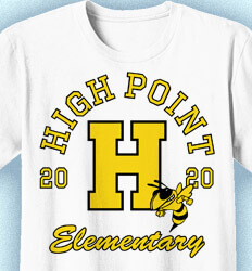 Elementary Shirts for School - Big Letter - desn-351v5