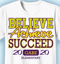 Elementary Teacher Shirts - Believe Achieve Success - idea-23b1