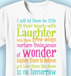 Elementary Teacher Shirts - Laughter and Wonder - cool-196l1