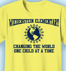 Elementary Teacher Shirts - World People - cool-421w1