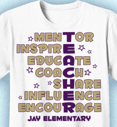 Elementary Teacher Shirts - Teacher Words - idea-290t1