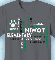 Elementary Teacher Shirts - Staff Words - cool-422u1