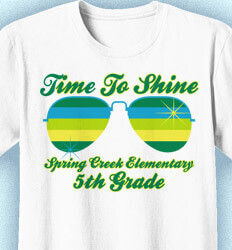 Elementary School Shirts - Shades of Summer - desn-361s9