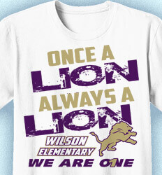 Elementary School Shirts - Spirit Slogan - idea-292s1