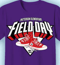 Elementary School Shirts - Field Day Sneakers - desn-905f9