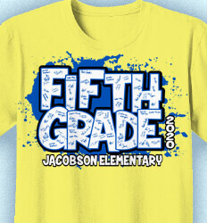 Elementary School Spirit Shirts - Splat Letters - cool-84s4