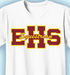 Equestrian T Shirt Designs - Athletic Letters - desn-264c9