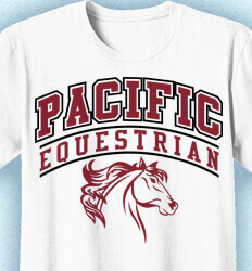 Equestrian T Shirt Designs - Classic Arch - cool-689c9