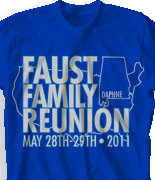 Family Reunion T Shirt - Alabama Reunion desn-430a2