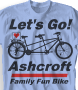 Family Reunion T Shirt - Go Biking desn-407g1