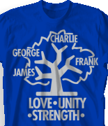 Family Reunion T Shirt - Family Tree desn-431f2