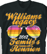 Family Reunion T Shirt   Shades Of Summer Desn 361s1