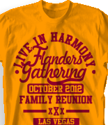 Family Reunion T Shirt - Live in Harmony desn-429l1