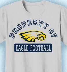Football T-Shirt Designs - Property of Football - idea-65p1