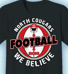 Football T-Shirt Designs - We Believe - idea-59f1
