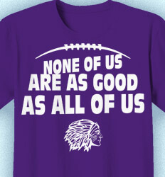 Football T-shirt Designs - All of Us Slogan - idea-61a2