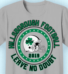 Football T-shirt Designs - Football - Leave No Doubt - idea-55f1