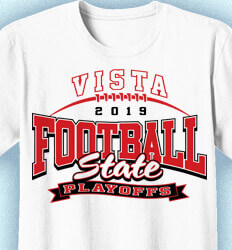 Football T-Shirt Designs - Football Playoff Banner - idea-54f1