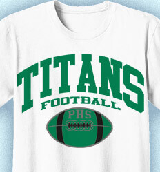 Football T-Shirt Designs - Athletic Arch - clas-728a4